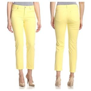 NYDJ Alisha Ankle Jeans Yellow Slim 4 Stretch